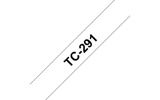 Genuine Brother TC-291 Labelling Tape Cassette – Black on White, 9mm wide