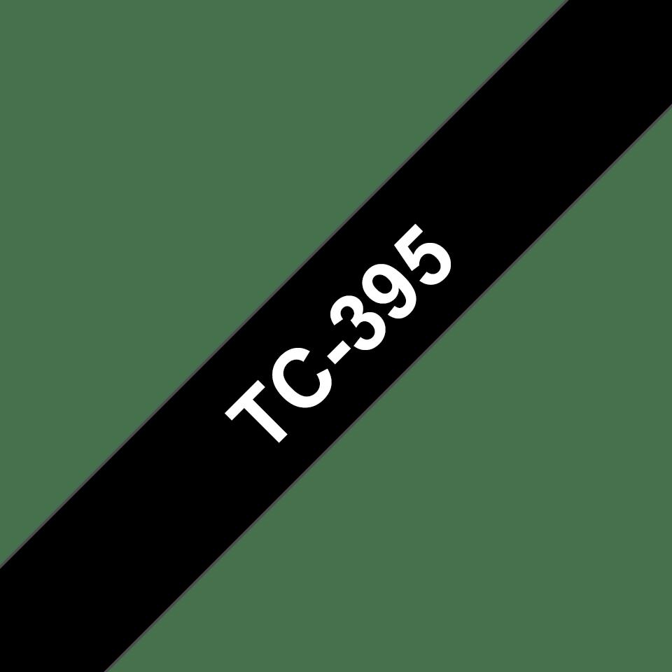 Brother TC-395 Cassetta nastro per etichettatura originale - Bianco su nero