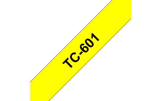 Eredeti Brother TC601 szalagkazetta - sárga alapon fekete, 12 mm széles
