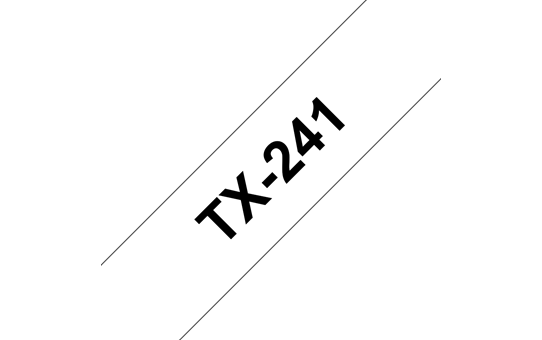 Genuine Brother TX-241 Labelling Tape Cassette – Black on White, 18mm wide