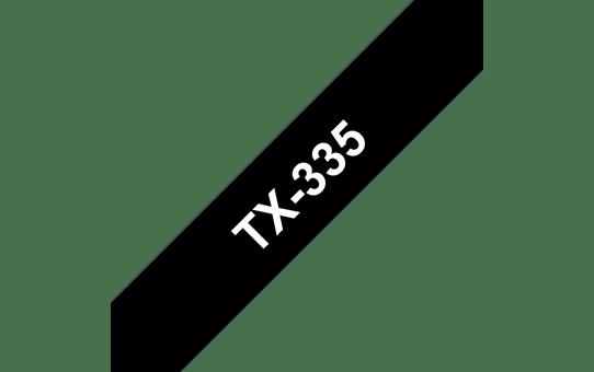 Cassette à ruban pour étiqueteuse TX-335 Brother originale – Blanc sur noir, 12mm de large