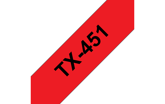 Genuine Brother TX-451 Labelling Tape Cassette – Black on red, 24mm wide