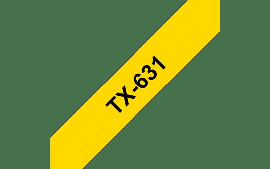 Brother TX-631 Schriftband – schwarz auf gelb