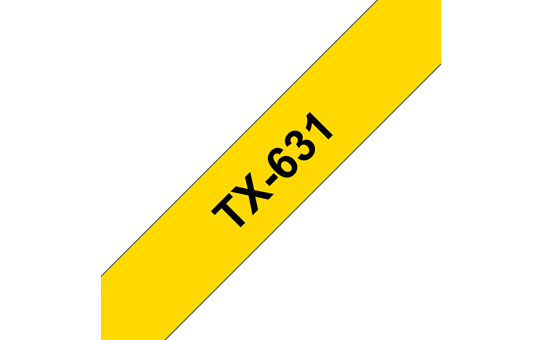 Cassette à ruban pour étiqueteuse TX-631 Brother originale – Noir sur jaune, 12mm de large