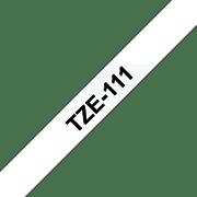 Brother P-touch TZe111 sort på klar merketape