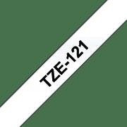 Brother P-touch TZe121 sort på klar 9 mm bred merketape