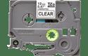 Brother TZe131: оригинальная кассета с лентой для печати наклеек черным на прозрачном фоне, ширина: 12 мм.