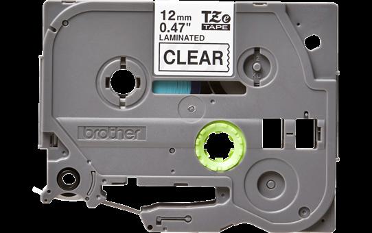 Bandă de etichete negru pe transparent Brother TZe-131 – 12mm lățime 2