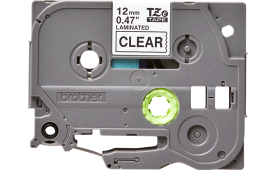 Originální kazeta s páskou Brother TZe-131 - černý tisk na průsvitné, šířka 12 mm 2