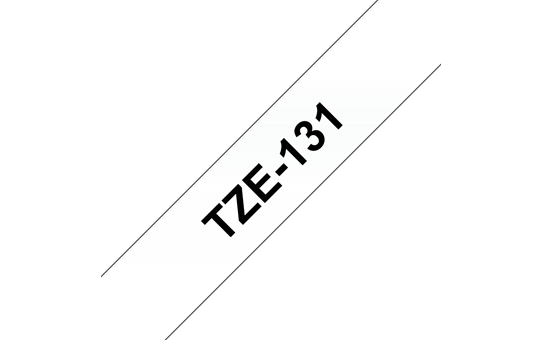 Genuine Brother TZe-131 Labelling Tape – Black on Clear, 12mm wide
