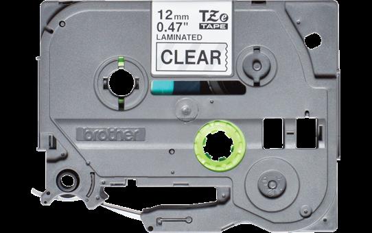Eredeti Brother TZe-131S  szalag átlátszó alapon fekete, 12mm széles 2