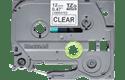 Oryginalna taśma Brother TZe-131S do drukarek etykiet – czarny nadruk na przezroczytym tle, 12 mm szerokości 2