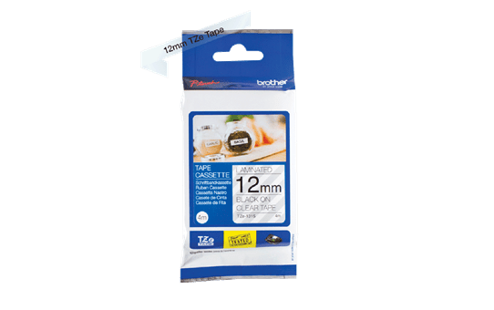 Genuine Brother TZe-131S Labelling Tape Cassette – Black on Clear, 12mm wide 3