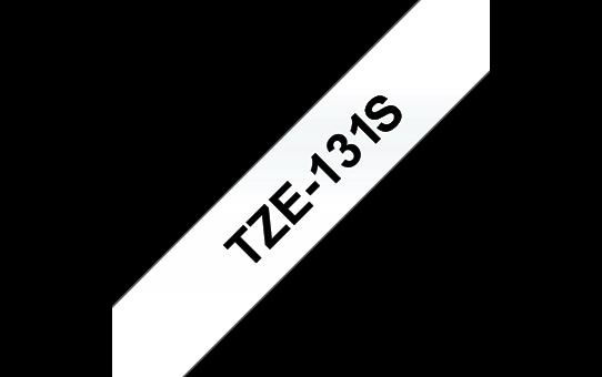 Originální kazeta pro značení Brother TZe-131S - černá na čiré, šířka 12 mm