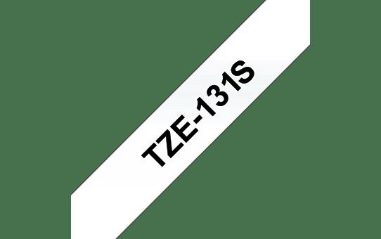 Eredeti Brother TZe-131S  szalag átlátszó alapon fekete, 12mm széles