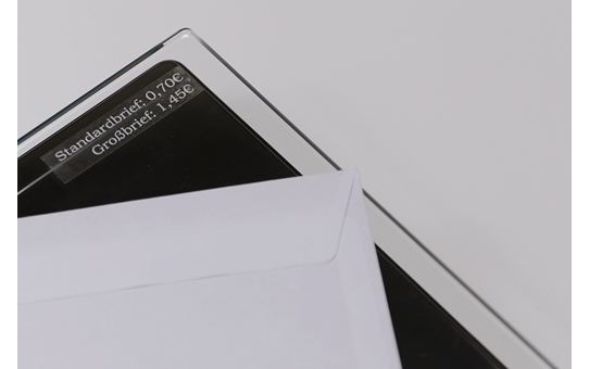 Brother TZe-135 Schriftband – weiß auf transparent 2