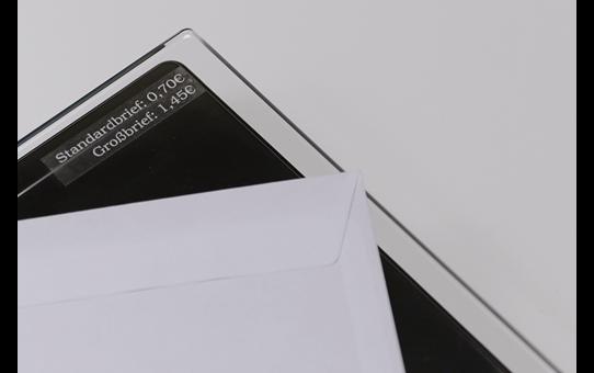 Original Brother TZe135 merketape – hvit på klar, 12 mm bred 4