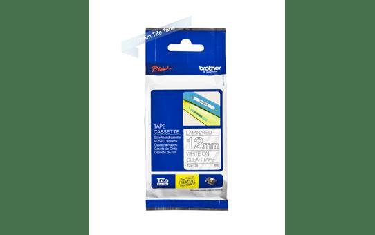 Originele Brother TZe-135 label tapecassette – wit op transparant, breedte 12 mm 3