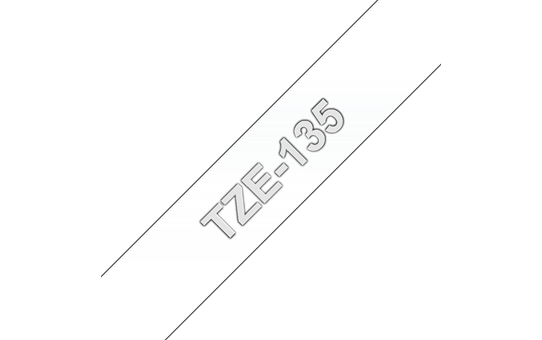 Genuine Brother TZe-135 Labelling Tape Cassette – White On Clear, 12mm wide
