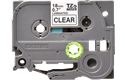 Cassette à ruban pour étiqueteuse TZe-141 Brother originale – Transparent, 18mm de large 2