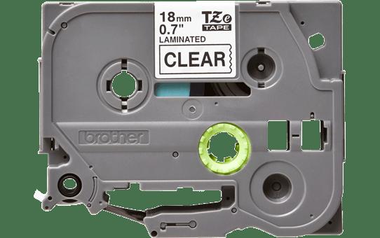 Cassetta nastro per etichettatura originale Brother TZe-141 – Nero su trasparente, 18 mm di larghezza