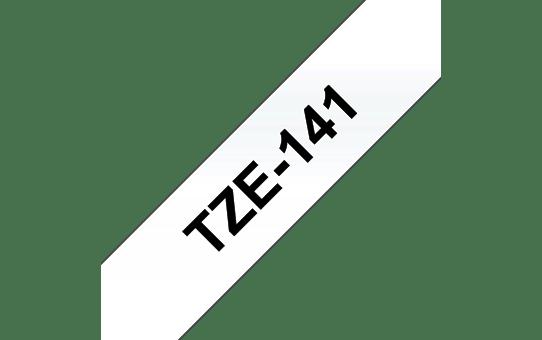 Brother TZe-141 Schriftband – schwarz auf transparent