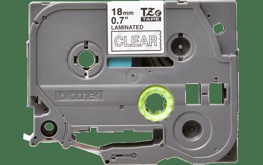 Oriģinālā Brother TZe145 baltas drukas caurspīdīga uzlīmju lentes kasete, 18mm plata