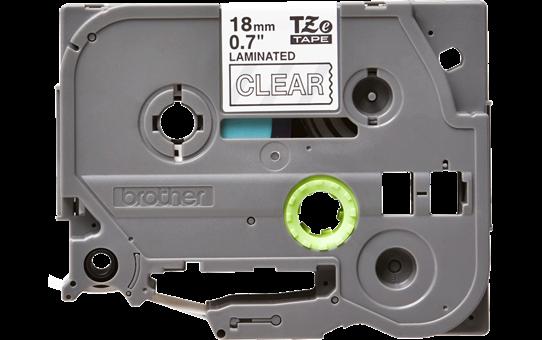 Brother TZe145original etikettape, vit på genomskinlig, 18 mm