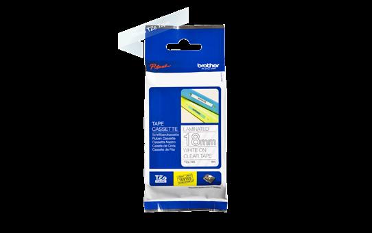 Oriģinālā Brother TZe145 baltas drukas caurspīdīga uzlīmju lentes kasete, 18mm plata 2