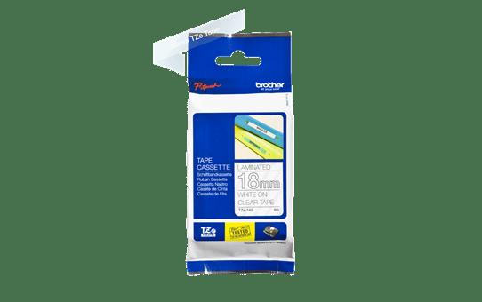 Casetă cu bandă de etichete originală Brother TZe-145 – alb pe transparent, lățime de 18mm 3