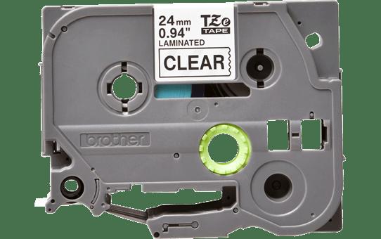 Eredeti Brother TZe-151 laminált szalag – Átlátszó alapon fekete, 24mm széles 2