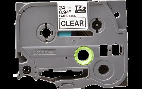 Brother TZe-151 Черен текст на прозрачна лента, ширина - 24mm 2