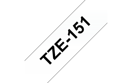 Genuine Brother TZe-151 Labelling Tape Cassette – Black on Clear, 24mm wide