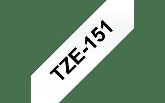 Alkuperäinen Brother TZe151 -tarranauha – musta teksti kirkkaalla pohjalla, 24 mm