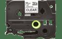 Oriģinālā Brother TZe161 melnas drukas caurspīdīga uzlīmju lentes kasetne, 36mm plata