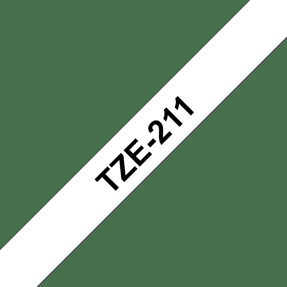 Brother TZe-211 Schriftband – schwarz auf weiß 2