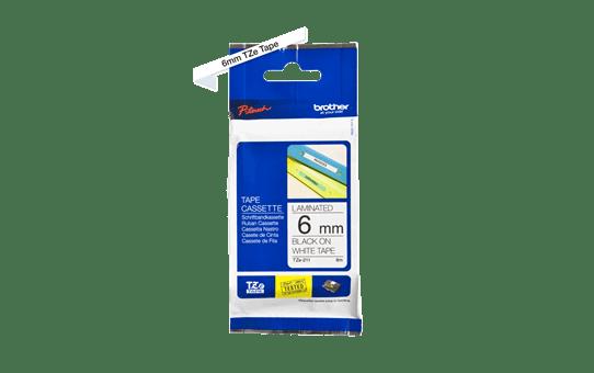 Originele Brother TZe-211 label tapecassette – zwart op wit, breedte 6 mm 3