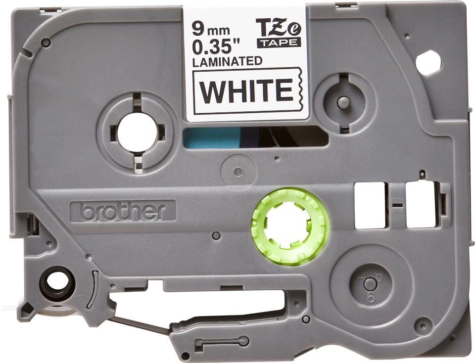 Originální kazeta s páskou Brother TZe-221 - černý tisk na bílé, šířka 9 mm 2