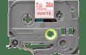 Original Brother TZe222 tape – rød på hvid, 9 mm bred 2