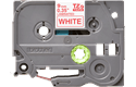 Brother TZe222: оригинальная лента для печати наклеек красным на белом фоне, 9 мм.