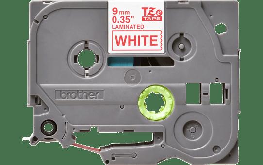 Original Brother TZe222 merketape – rød på hvit, 9 mm bred 2