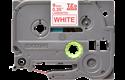 Originele Brother TZe-222 label tapecassette – rood op wit, breedte 9 mm 2