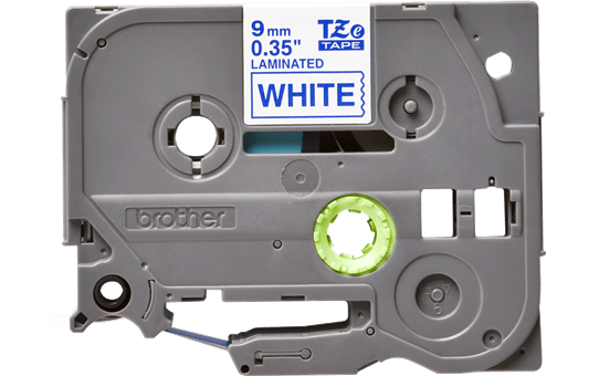 Eredeti Brother TZe-223 laminált szalag – Fehér alapon kék, 9mm széles 2