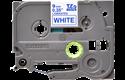 Brother TZe223: оригинальная кассета с лентой для печати наклеек синим на белом фоне, 9 мм.