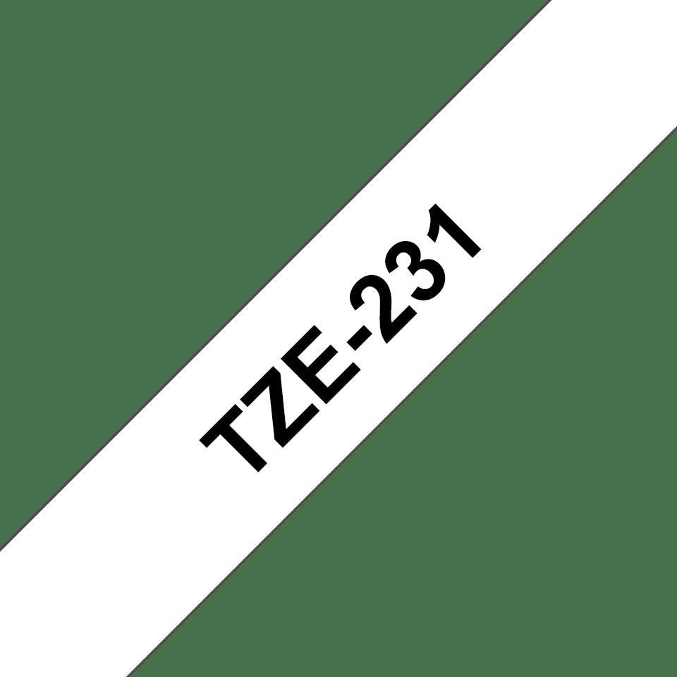 Brother TZe-231 Schriftband – schwarz auf weiß 3
