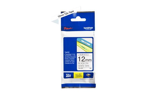 Cassette à ruban pour étiqueteuse TZe-231 Brother originale – Noir sur blanc, 12mm de large 3