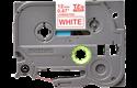 Eredeti Brother TZe232 laminált szalag – Fehér alapon piros, 12mm széles 2