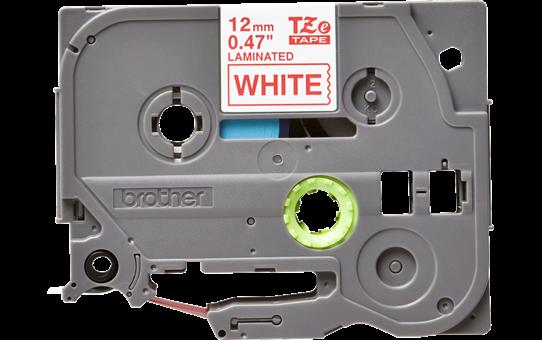 Originální kazeta s páskou Brother TZe-232 - červený tisk na bílé, šířka 12 mm<br> 2