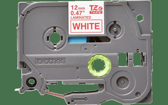 Brother TZe232: оригинальная кассета с лентой для печати наклеек красным на белом фоне, ширина 12 мм.