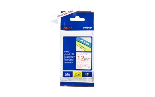 Genuine Brother TZe-232 Labelling Tape Cassette – Red on White, 12mm wide 2